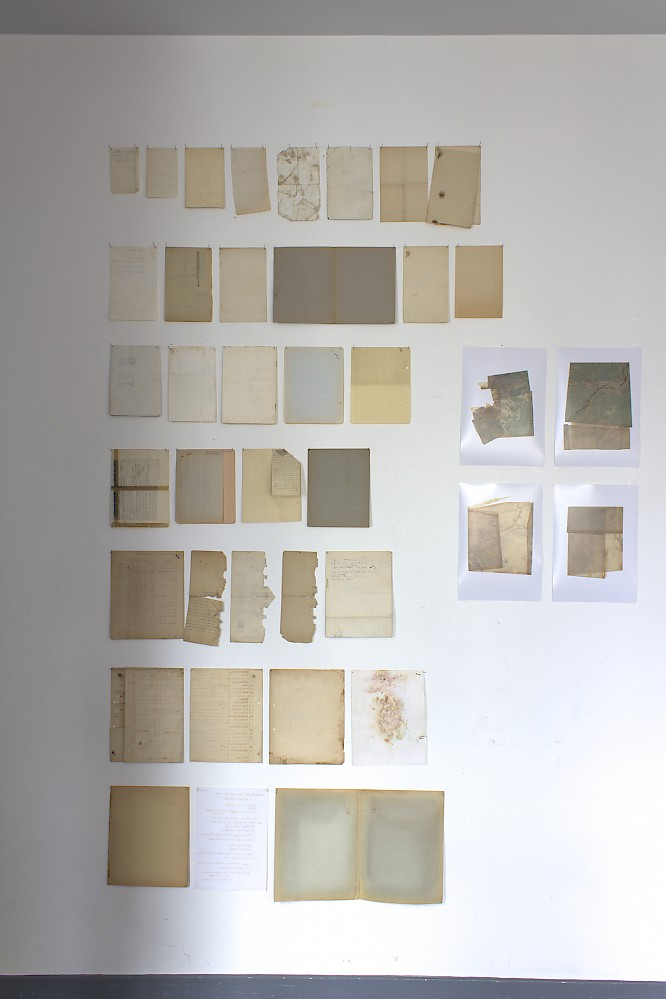 a collection of papers with shining though traces of use